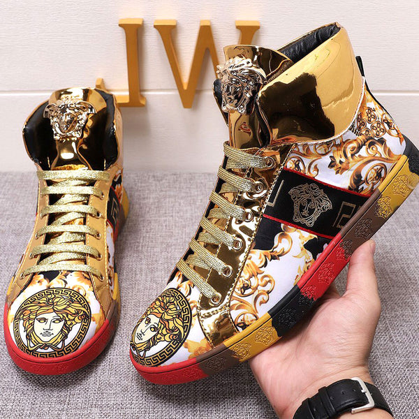 Medusa high-top fashion shoes