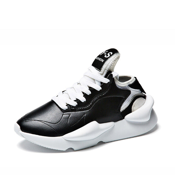 Men's Leather Casual Fashion Sneakers-A