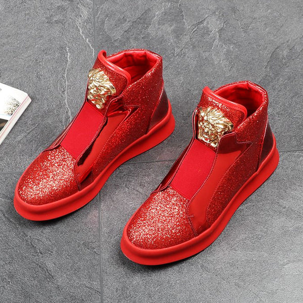 Glitter high top shoes