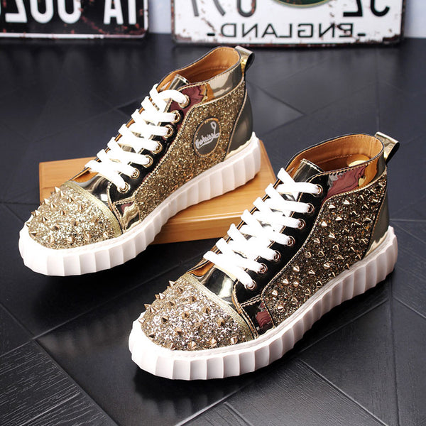 HIgh Top Spikes Shoes-1