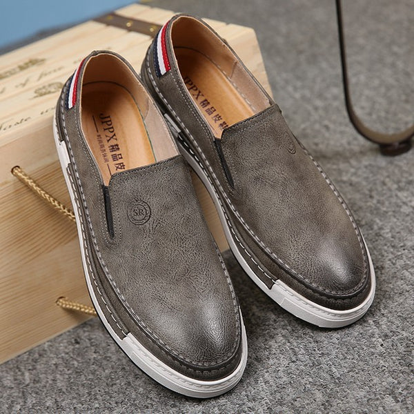 Loafers Faux Leather Slip-Ons Walking Shoes