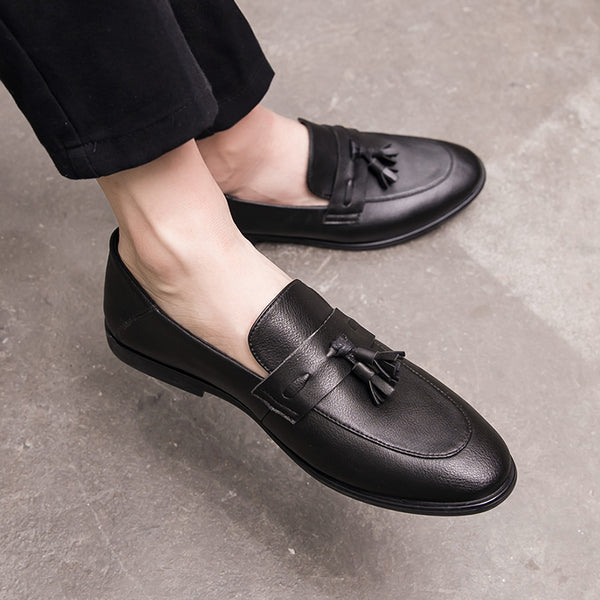 Leather Trendy Loafers-20