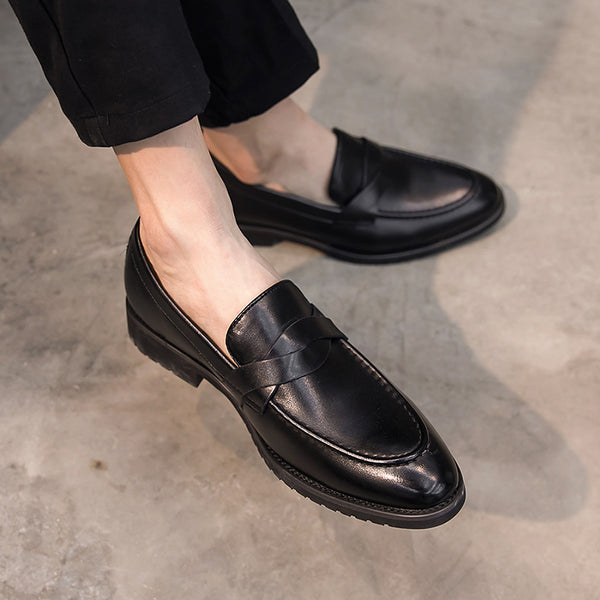 Leather Trendy Loafers-30