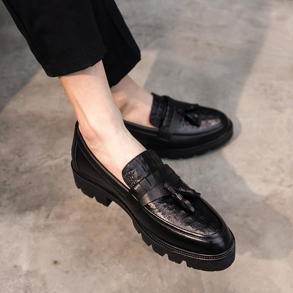 Leather Trendy Loafers-31