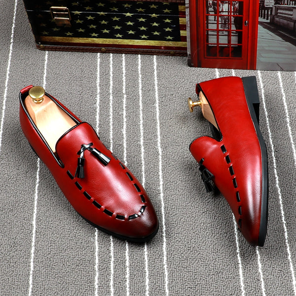 Leather Trendy Loafers-17