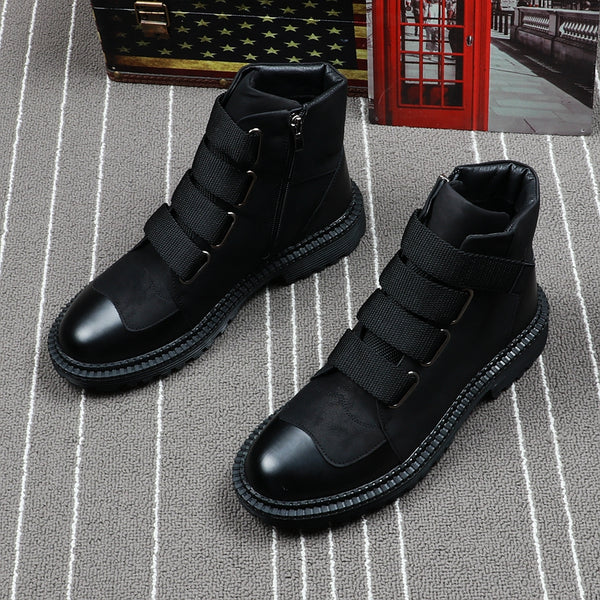 Zipper Martin boots high top