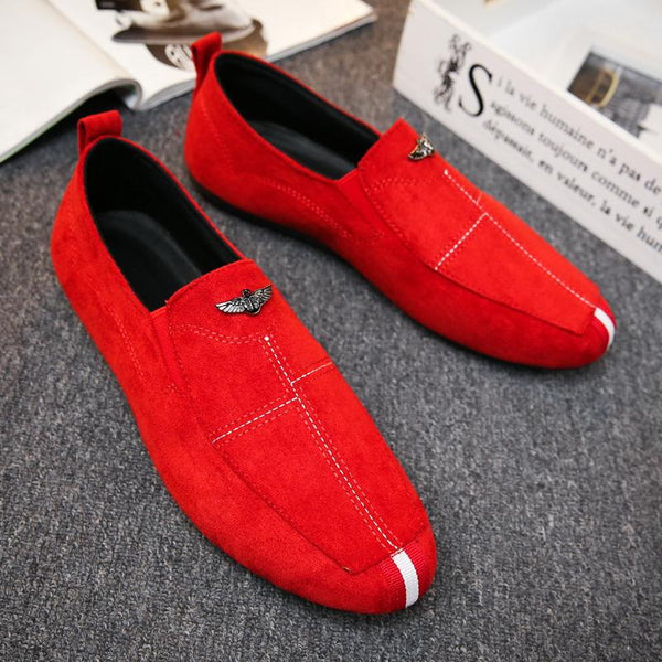 Men's Personality Loafer Red