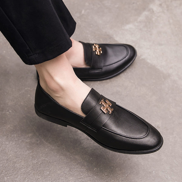 Leather Trendy Loafers-L