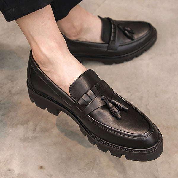 Leather Trendy Loafers-25