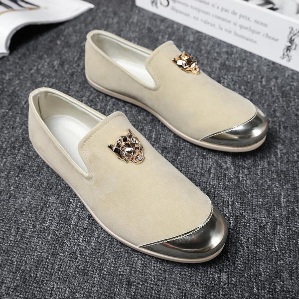 Men's White Personality Loafer