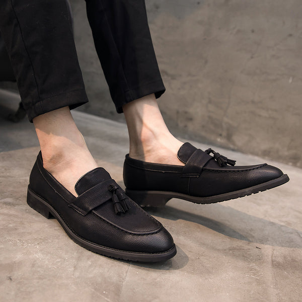 Leather Trendy Loafers-23