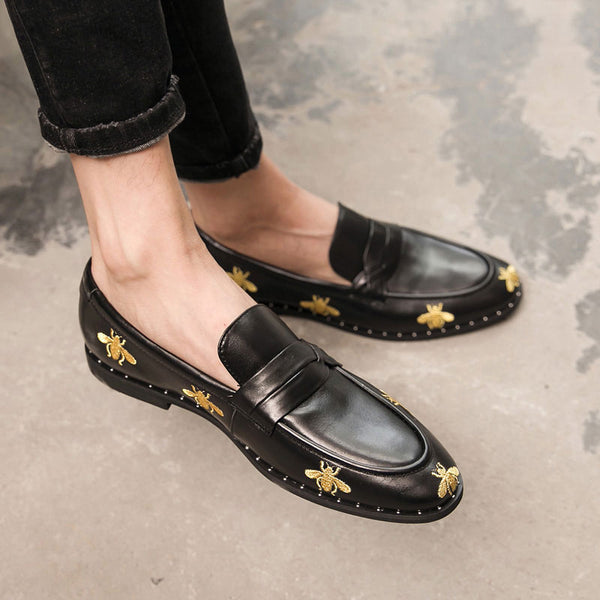 Leather Trendy Loafers-32