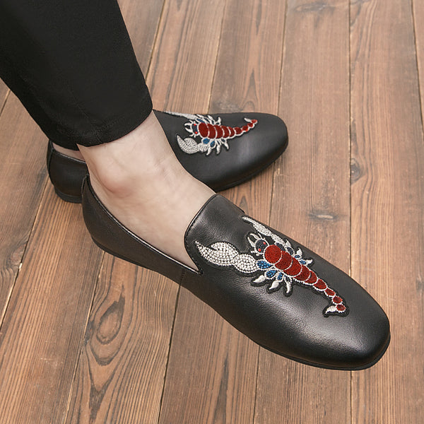 Leather Trendy Loafers-8
