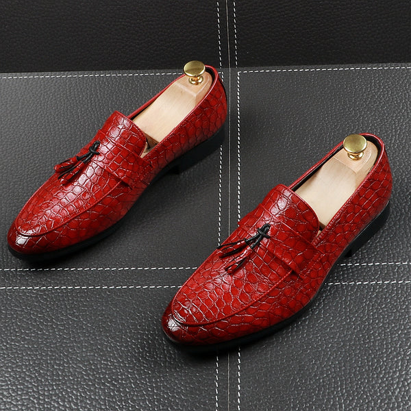 Leather Trendy Loafers-19