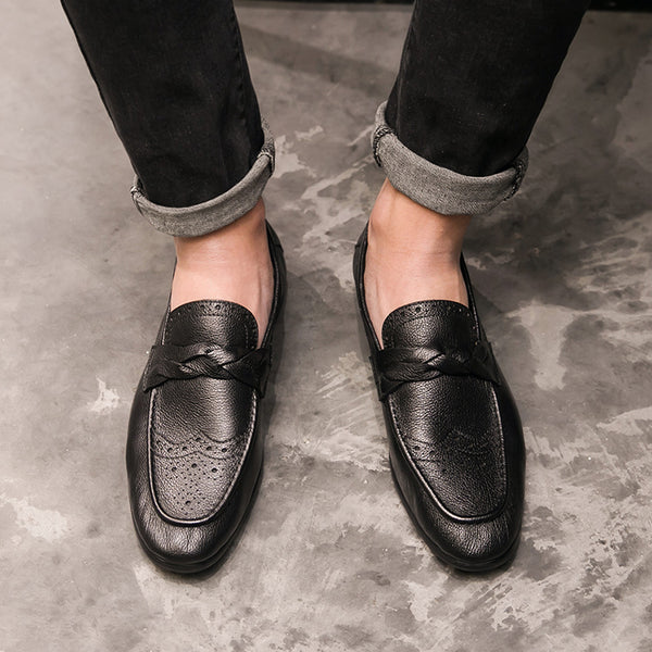 Leather Trendy Loafers-9