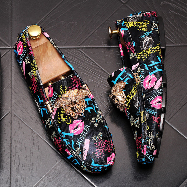 Lip pattern Trendy Loafers