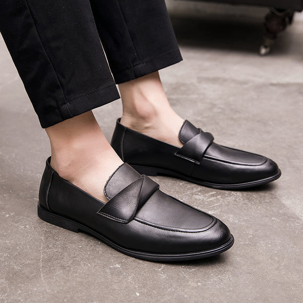 Leather Trendy Loafers-16