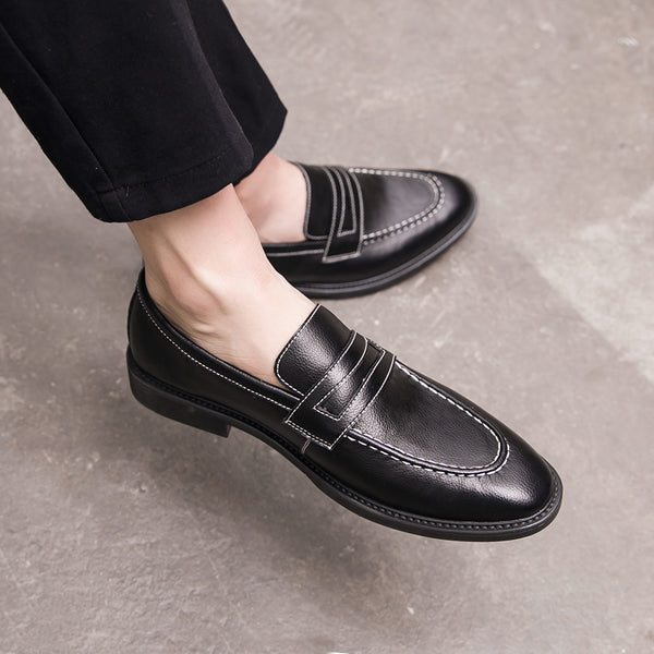 Leather Trendy Loafers-21