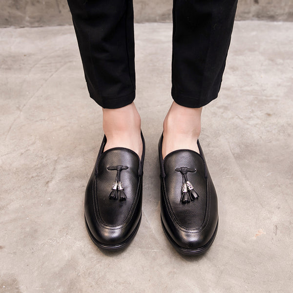 Leather Trendy Loafers-35