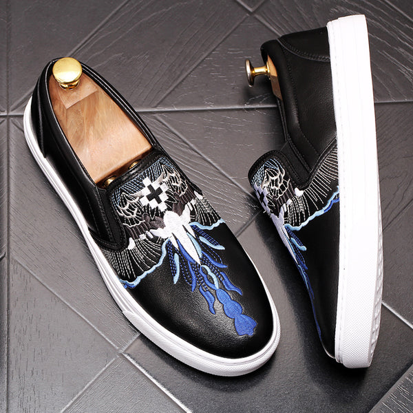 Leather Trendy Loafers-10