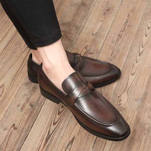 Leather Trendy Loafers-6