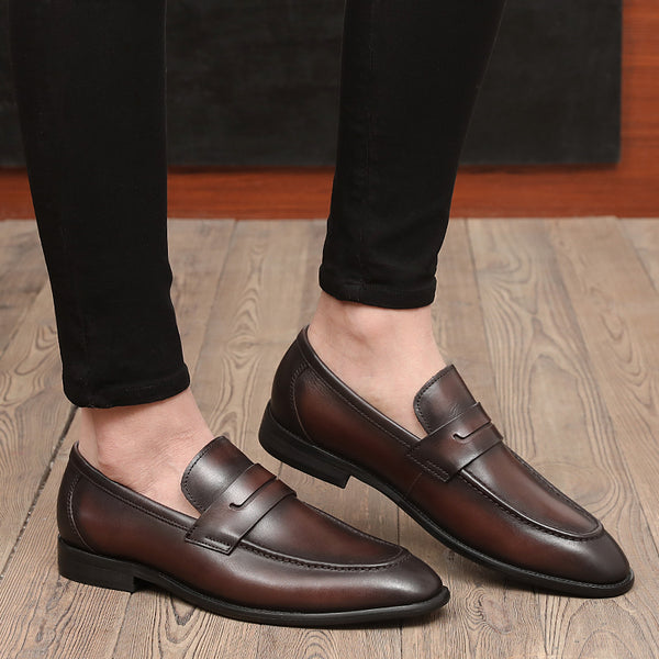 Leather Trendy Loafers