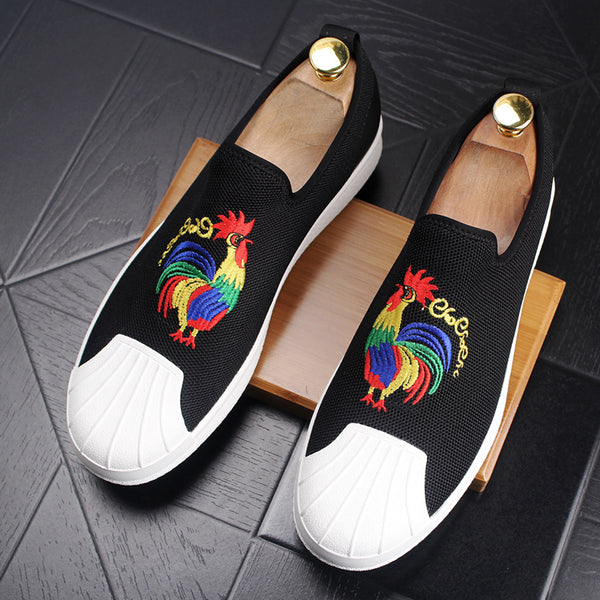 Chicken embroidery Trendy Loafers