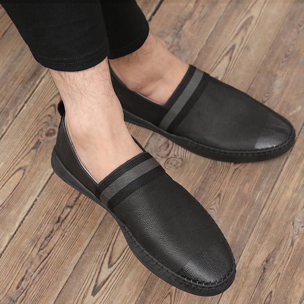 Leather Trendy Loafers-7