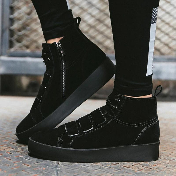 2019 autumn men's  trend personality high top shoes 17