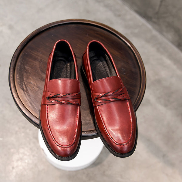 Leather Trendy Loafers-29