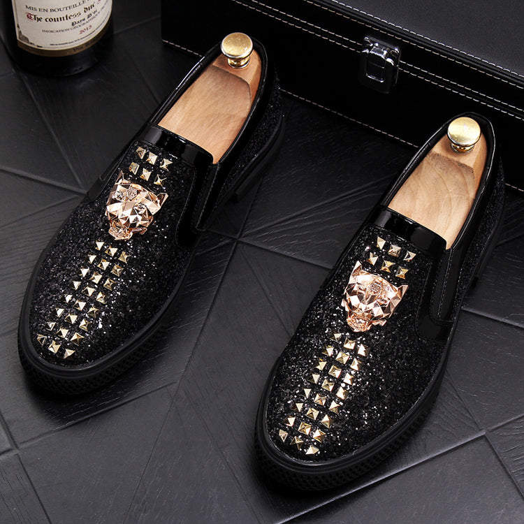 Spikes Trendy Loafers-B