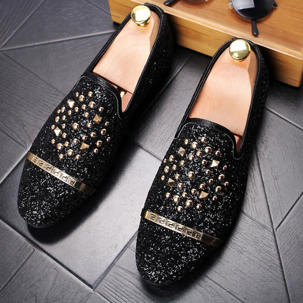 Glitter Trendy Loafers-A