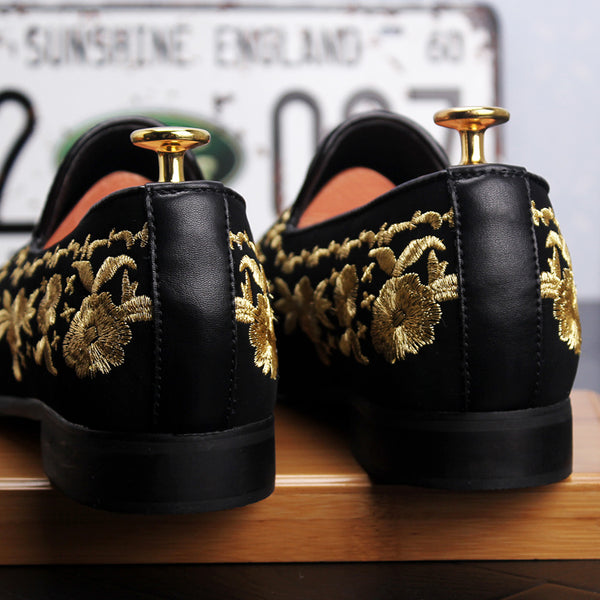 Embroidery Trendy Loafers-1