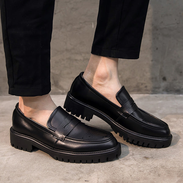 Leather Trendy Loafers-26