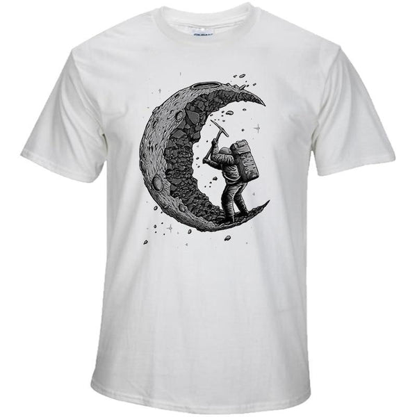 Moon print casual t shirts