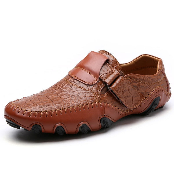 Top 1: Men's casual & leather flat shoes with Non-Slip Moccasins 13