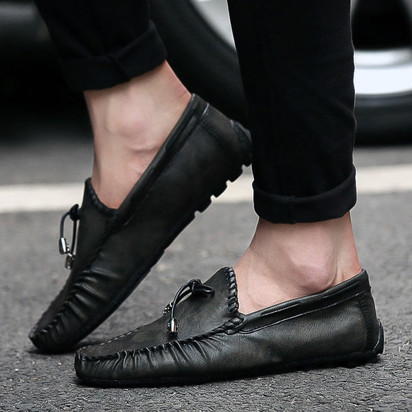 Leather Loafer Driving Shoes