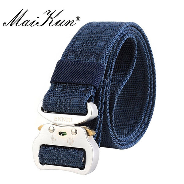 Maikun Nylon Belts for Men Military Tactical Men's Belt Male Metal Buckle Belt Male 3.7CM