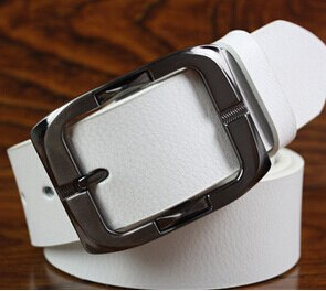 New High Quality Luxury Brand Leather Belt Designer Belts Men Pin Buckle Black Business Trouser Strap Cinturones Hombre Cinto