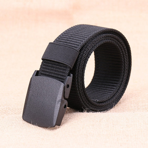 2019 Tactical Belt Men Nylon Army Belts Adjustable Outdoor Travel Waist Belt Army Plastic Buckle Belt for Trousers 120cm