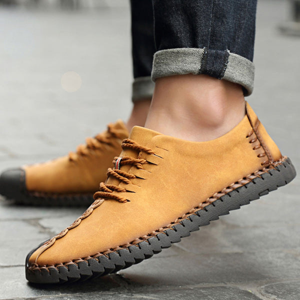 New Comfortable Casual Shoes Loafers Men Shoes Quality Split Leather Shoes Men