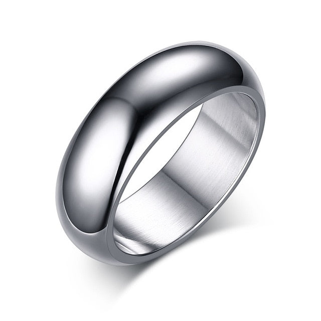 Men's Classic Smooth 7mm Stainless Steel Wedding Band - My Accessory Collection