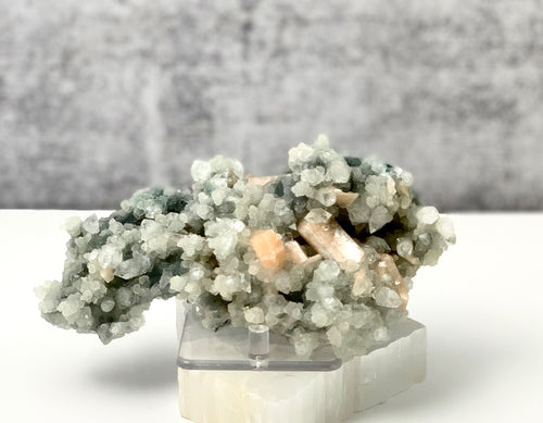Chalcedony with Apophyllite and Stilbite