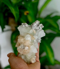 Load image into Gallery viewer, Green Apophyllite, Stilbite on Chalcedony