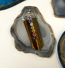 Load image into Gallery viewer, Tigers Eye Chakra Pendant