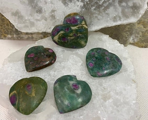 Ruby Zoisite Heart