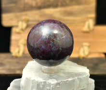 Load image into Gallery viewer, Ruby Kyanite Sphere