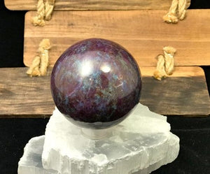 Ruby Kyanite Sphere