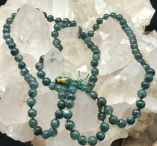 Load image into Gallery viewer, Moss Agate Jap Mala