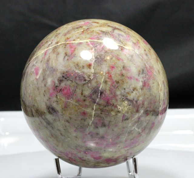 Big Ruby Feldspar sphere